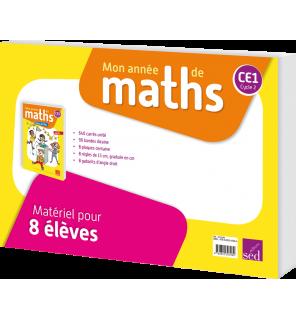 Mon année de maths CE1 - Matériel de l'élève (pour 8 élèves)