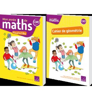 Mon année de maths CM1 - Manuel + cahier de géométrie